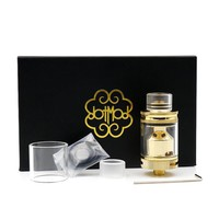 VAPOR Dot Vaporizer RTA Tank 1:1 Clone 24K Gold Plating Postless Deck 2ml Airflow Rebuildable Tank Atomizers Fits 510 Box mod