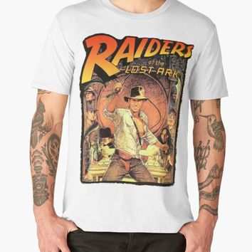 RAIDERS OF THE LOST ARK T SHIRT INDIANA JONES 80'S CULT MOVIE FILM BIRTHDAY T Shirt Discount 100 % Cotton T Shirt For Men'S