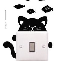 Macbook decal, Kitty Mac decal, Apple decal, Macbook pro,Laptop decal, Stickers for pro/air/ipad, MacBook ipad decal,black cat