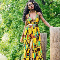 African Print Maxi Dress - African Clothing