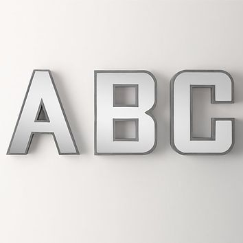 Extra-Large Mirrored Letters