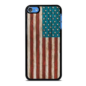 AMERICAN FLAG USA WOOD 2 iPod Touch 7 Case