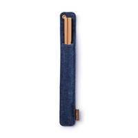 Hemp Denim Bamboo Chopstick Travel Set