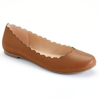 LC Lauren Conrad Women's Scalloped Ballet Flats