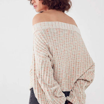 Ecote Colby Oversized Off-The-Shoulder Ribbed Sweater | Urban Outfitters