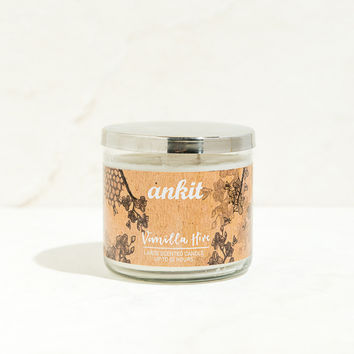 Vanilla Hives Scented Glass Jar Candle