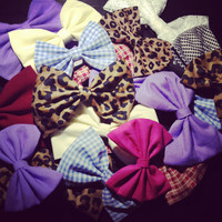 Custom Solid Color  Hair Bows SMALL