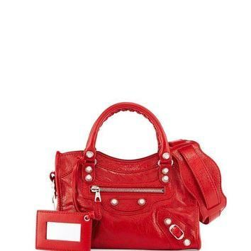 ONETOW giant 12 golden city mini bag red balenciaga 2