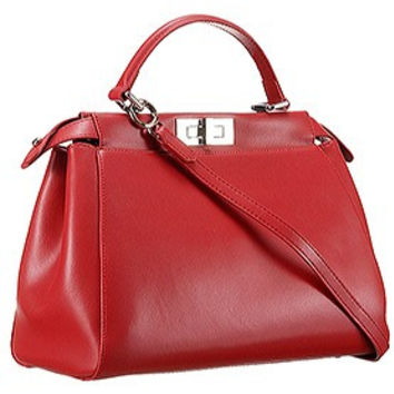 Fendi Peekaboo Medium Red Bag