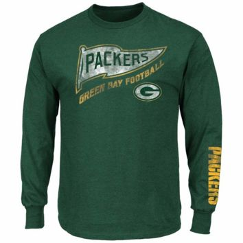 Majestic Green Bay Packers A Life Above Men's Green Long Sleeve Shirt