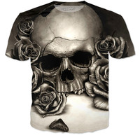 DJ Virusez- Skull Rose T-Shirt