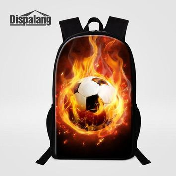 Cool Backpack school Dispalang Cool RugbyBall Prints 16 inch School Backpack Soccers Men Bagpack Back To School Backpacks Leisure Travel School Bag AT_52_3
