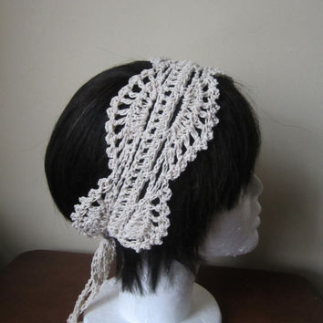 Lace headband, crochet lace headband, Great Gatsby lace headband, lace hairband, vintage lace hairband, Boho headband, wedding lace headband