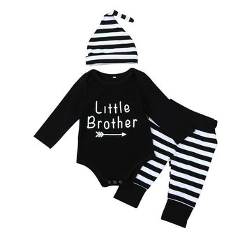 Baby Boy's 3pc Fall/Winter Outfit w/Print