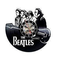 The Beatles Vinyl Record Clock