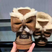 """UGG"" Women male Fashion Wool Snow Boots Chestnut"