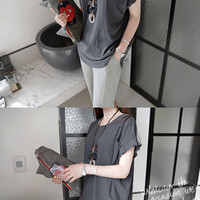 Pleated Sleeves Loose Fit T-Shirt - Miamasvin loves u! Womens Clothing. Korean Fashion.