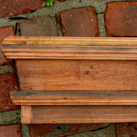 Handmade Furniture - Solid Wood - Floating Wall Shelf - Wooden - Shabby Furniture - Chic - 40 Inches