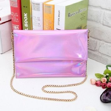 2016 New Shinning Womens Envelope Clutch Chain Purse Lady Handbag Hot Products Wholesale And Dropship