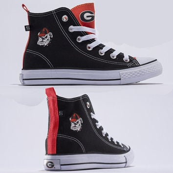 Georgia Bulldogs Official NCAA Skicks Unisex High Top Sneakers