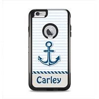 The Blue Highlighted Anchor with Rope Name Script Apple iPhone 6 Plus Otterbox Commuter Case Skin Set