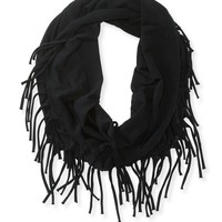Fringe Solid Infinity Scarf