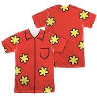 FAMILY GUY QUAGMIRE COSTUME Short Sleeve T-Shirt 100% Polyester 1 or 2 Sided
