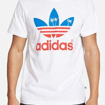 Men's adidas Originals 'Palm Tree Trefoil' Graphic T-Shirt,