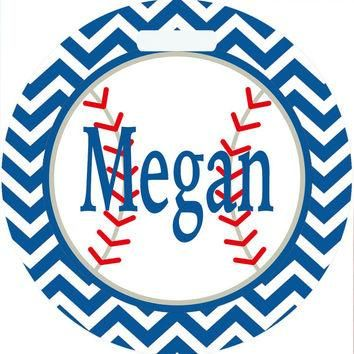 Softball Monogrammed Bag Tag. Perfect on a Softball bag or luggage! Softball player gi