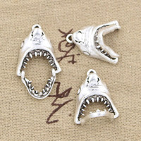 10pcs Charms opens closes shark teeth mouth 30*28mm Antique pendant fit,Vintage Tibetan Silver,DIY for bracelet necklace