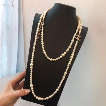 Double C New Arrival Long Full Beads Necklaces