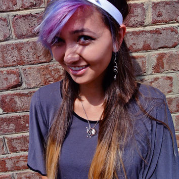 WHITE Punk Metal Spiked Studded Custom Headbands & Garders
