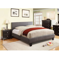 Twin size Platform Bed with Headboard in Royal Cherry