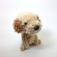 Labradoodle Amigurumi Dog Handmade Crochet Puppy Stuffed Animal Plush Doll / Made to Order