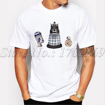 New Fashion design Not The Droid We're Looking For Men Dalek cool t-shirt short sleeve casual male tops hipster DR WHO tee