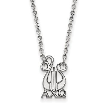Sterling Silver Alpha Chi Omega Small Necklace