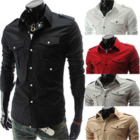 Slim Fit Military Field Shirt