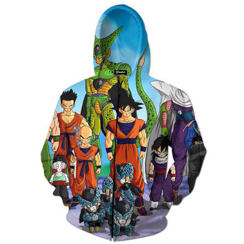 DBZ Cell Game Saga Zip Up Hoodie