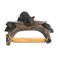 Black Bear Toilet Paper Holder