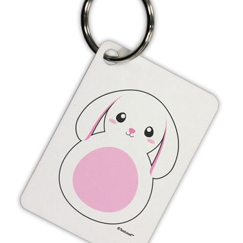 TooLoud Cute Bunny with Floppy Ears - Pink Aluminum Keyring Tag