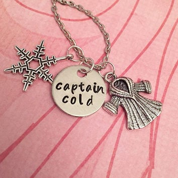 Captain Cold Necklace - Flash CW Jewelry - Barry Allen Inspired Jewelry - Fandom Jewelry - Villain Jewelry