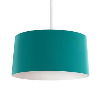 Solid Teal Pendant Lamp