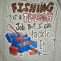 Southern Chaps Funny Tackle Fishing Fish Hunt Country Bright T Shirt