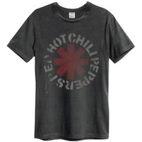 Red Hot Chili Peppers Men's  Logo Slim Fit T-shirt Charcoal