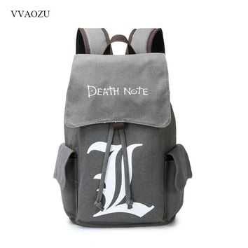 Cool Attack on Titan Death Note Naruto Totoro  Mochila Backpack Canvas Drawstring Daypack Rucksack Schoolbags For Teenagers Boys Girls AT_90_11