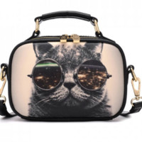 Kitten Design Crossbody Bag