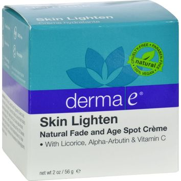 Derma E Skin Lighten Creme - 2 Oz