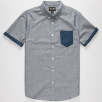 Retrofit Nathan Mens Shirt Blue  In Sizes