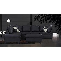 Venetian Worldwide LINFORD Sectional Sofa w/ Ottoman - Left - Home - Furniture - Living Room Furniture - Sofas & Loveseats