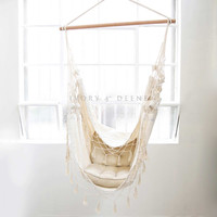 Luxury Cream Provincial Hanging Hammock Chair